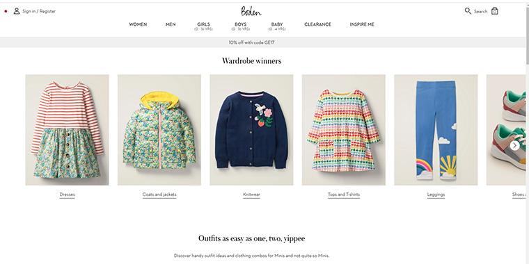 イギリスの高級セレブに最も人気のベビー・子供洋服通販サイト Boden