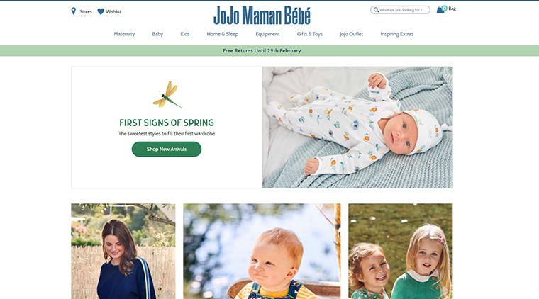 イギリスのセレブに人気のベビー・子供洋服通販サイト Jojo Maman Bebe