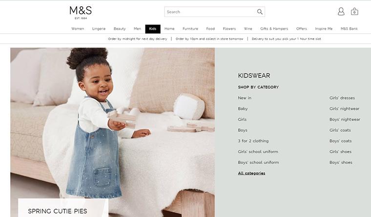 スタイリッシュなデザインが人気のベビー・子供洋服通販サイト Marks and Spencer