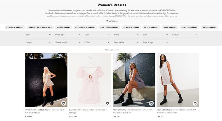 asosの買い方 女性ドレス